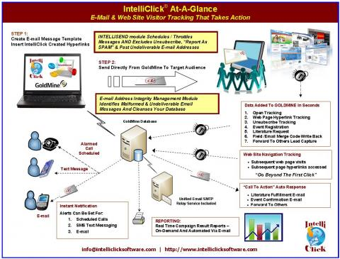 Intelliclick integrates with GoldMine to give you closed loop marketing feedback
